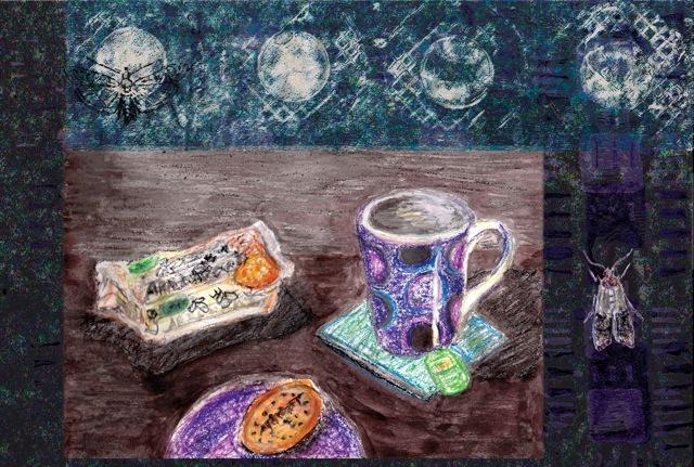'Tea and Biscuit Vanitas' by Narelle Adair Coxhead. Narelle can be found at http://designcxadair.wordpress.com/