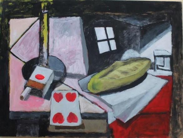 Tony Oliver, Baguette, Poet table series, 2013.