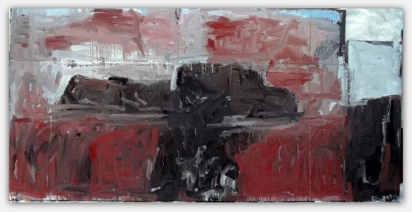 Luciano Prisco - Terra, osso, earth, bone. acrylic on five panels