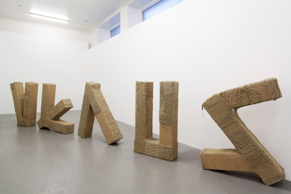 Kate Just, Venus, 2011. Hand knitted twine, cardboard, tape 90x600x50cm. Photo by Clare Rae. Kate Just is represented by Daine Singer.
