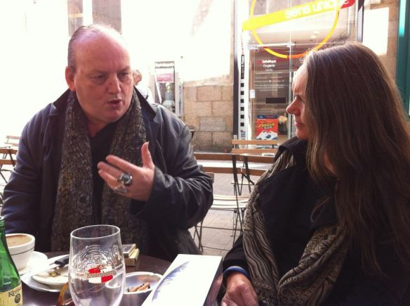 Christopher Barnett and Francesca Sasnaitis. Nantes April 2014. (Photo- Alex Chapman)
