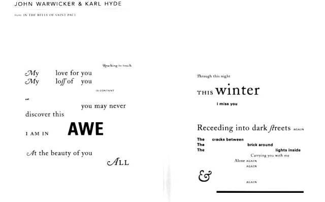 John Warwicker & Karl Hyde - 'from IN THE BELLY OF SAINT PAUL'