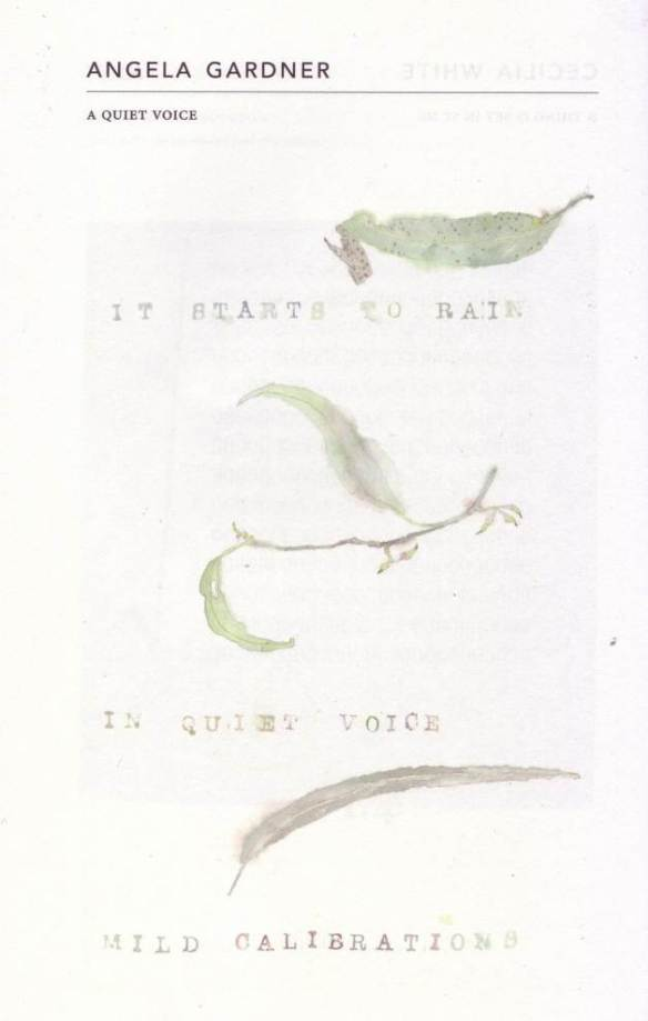 The first page of 'A QUIET VOICE' by Angela Gardner