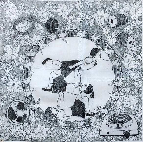 Wittamon Niwattichai Jasmin, 2014 Hard ground on handkerchiefs 40 x 40 cm