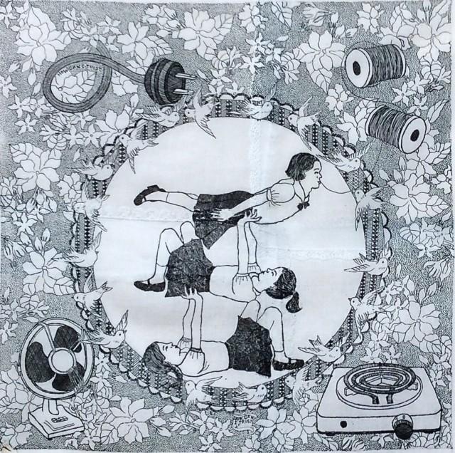 Wittamon Niwattichai Jasmin, 2014 Hard ground on handkerchiefs 40 x 40 cm