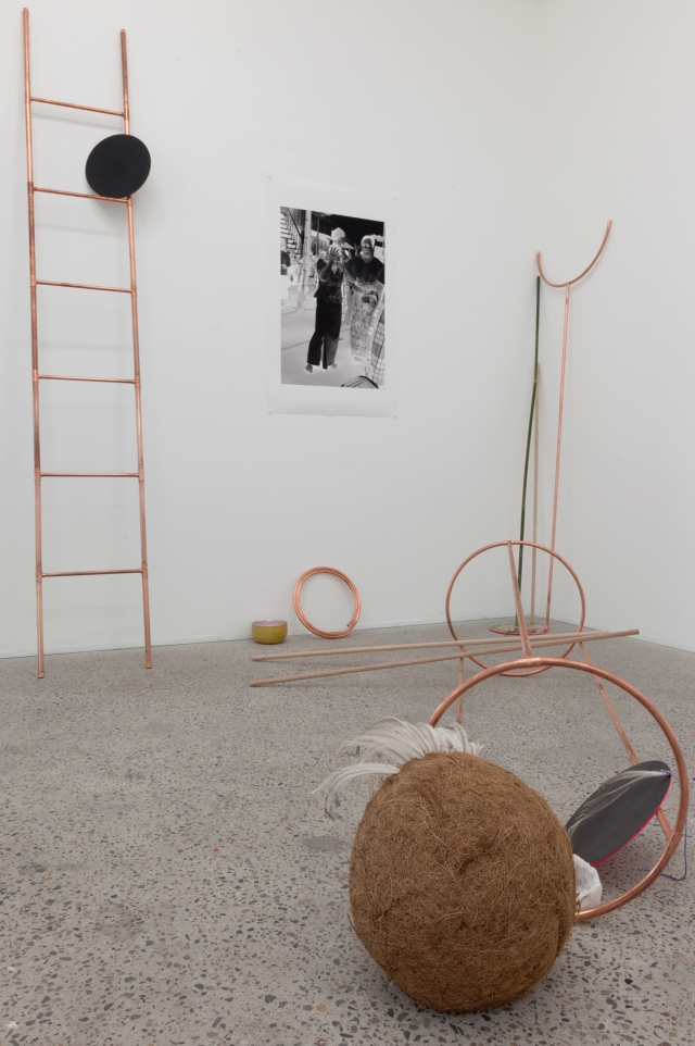 Sara Oscar, The Mobility of Happiness, 2015, installation view . Photograph courtesy of the artist