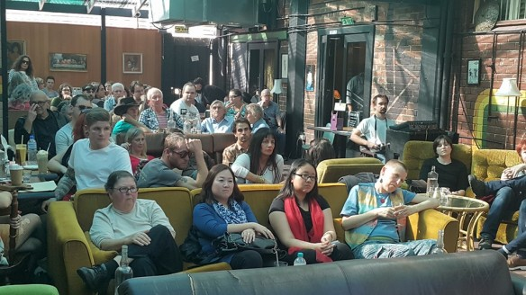 Part of the audience at the Perth Poetry Club. Photograph Coral Carter.