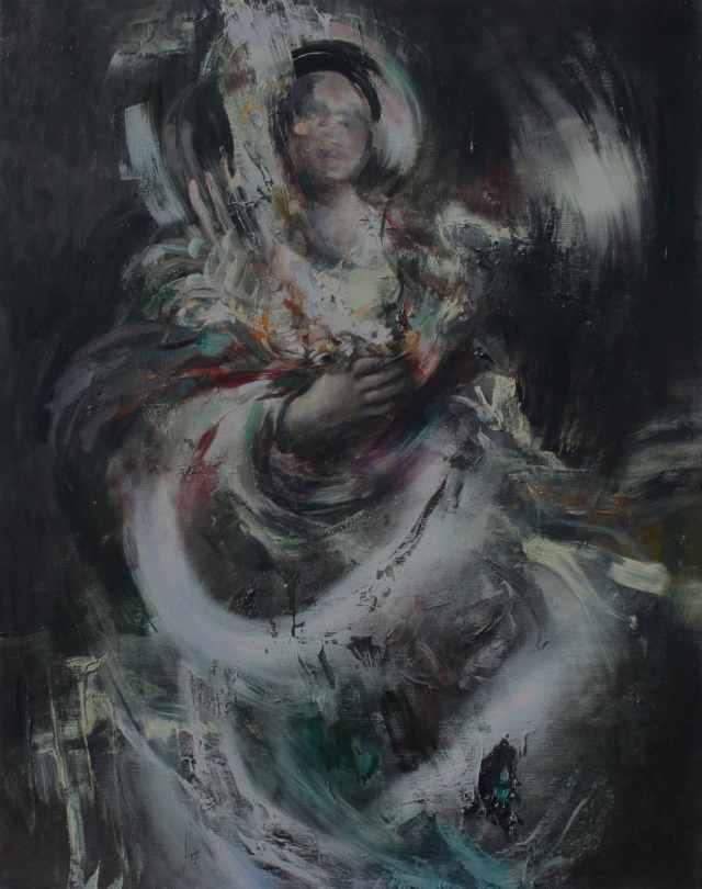 Chelsea Lehmann, Sondage, oil and enamel on linen, 2015. Picture courtesy of the artist