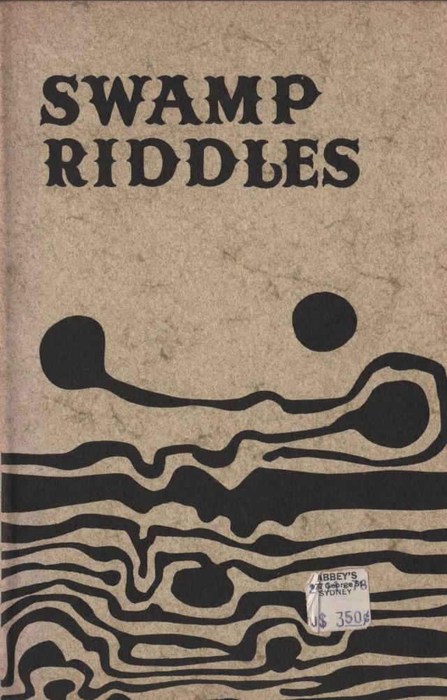 Cover of Swamp Riddles by Robert Adamson. Island Press 1974