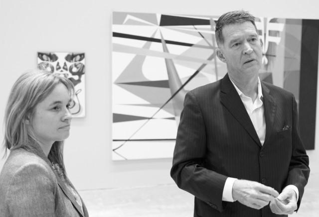 MCA senior curator Natasha Bullock and virtuoso painter Matthys Gerber Picture: courtesy of Liam Kesteven Photography