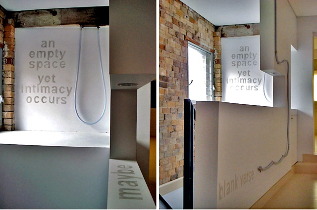 'Intimacy ' 2010 at Articulate Project Space, Sydney. Photo by William Seeto