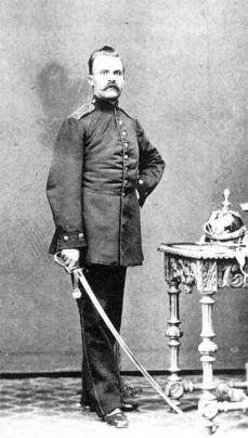 Friedrich Nietzsche as an artillerist in the Royal Prussian Army circa 1870