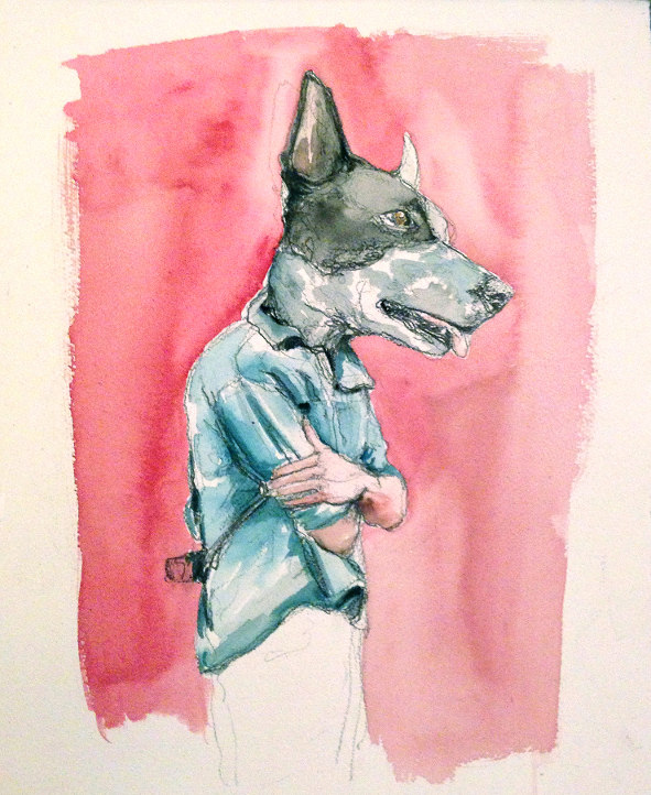 Nicci Pratten, Dogmat, pencil and watercolour, 2014: Photograph courtesy of the artist