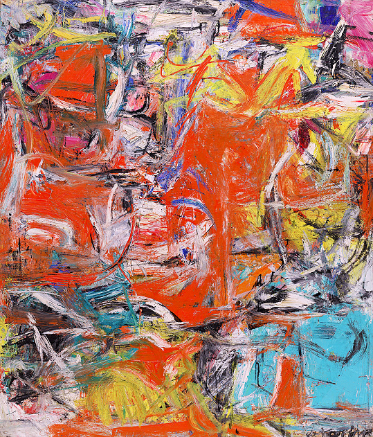Willem de Kooning, Composition, oil, enamel and charcoal on canvas, 1955. Phtograph courtesy of Guggenheim Collection Online