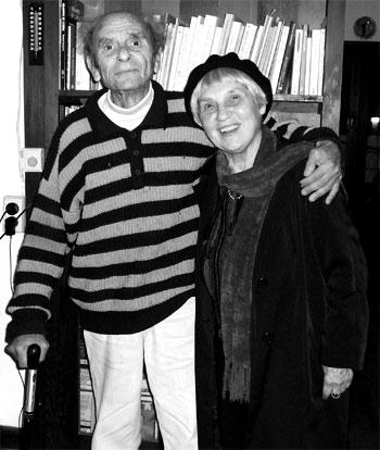 Dimitris Tsaloumas with Antigone Kefala photo by Helen Nickas, originally published in Cordite