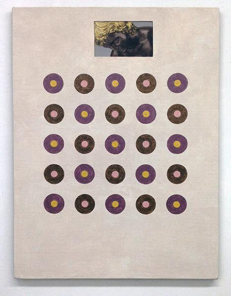 Ken Weathersby, 260, 2016, acrylic and graphite on linen, Collage, 40 x 30 inches. (Image courtesy Minus Space)