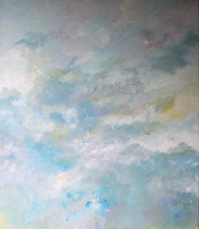 Ablaze, 2017, oil on board (Image: Gallery Klei)