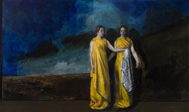 Jordan Richardson The Robe 2017, oil on canvas